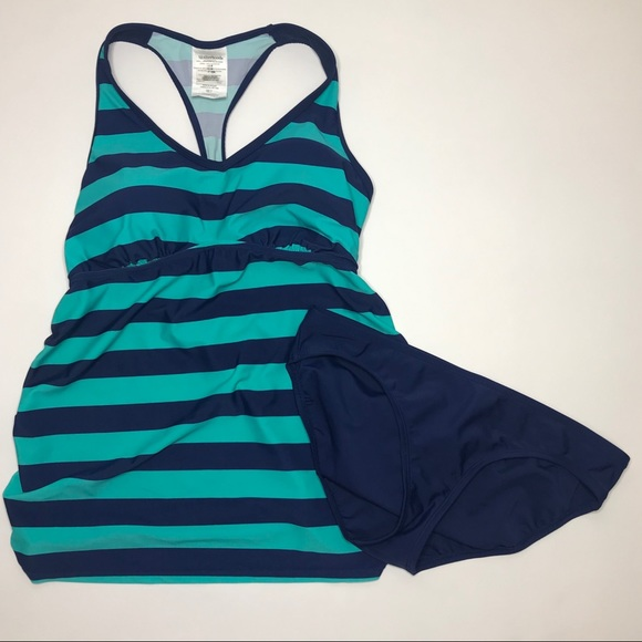 56de7314de31b Motherhood Maternity Swim | Striped Racerback Tankini | Poshmark